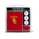 Southern California Trojans Embroidered Golf Gift Set