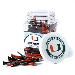 Miami Hurricanes Golf 175 Tee Jar