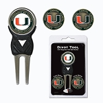 Miami Hurricanes Golf Divot Tool Set