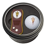 Arizona State NCAA Gift Set Switchblade Divot Tool with Double-Sided Magnetic Ball Marker & Golf Ball