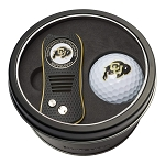 Colorado Buffalos NCAA Golf Gift Set Switchblade Divot Tool with Double-Sided Magnetic Ball Marker & Golf Ball